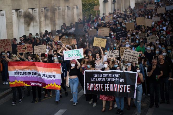 La manifestation à Nantes.