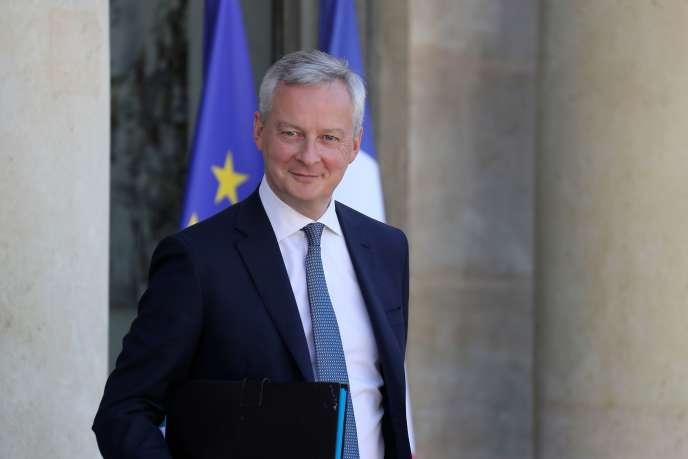 Le ministre de l'économie et des finances, Bruno Le Maire, le 7 juillet au palais de l'Elysée.