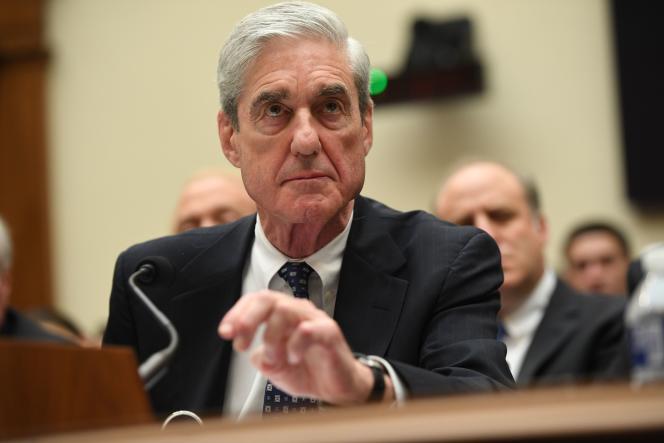 L'ancien procureur Robert Mueller, en charge de l'enquête sur l'ingérence russe dans la campagne présidentielle 2016,devant le Congrès, en 2019.