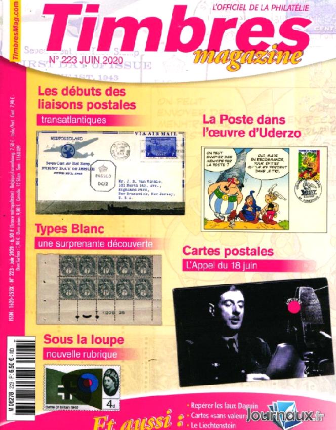 « Timbres magazine» de juin, en vente en kiosques.