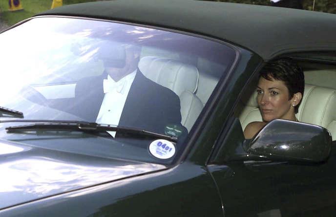 Ghislaine Maxwell aux côtés du prince Andrew à Compton Chamberlayne près de Salisbury (Royaume-Uni), en septembre 2000.