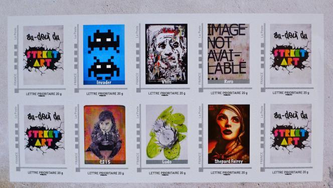 Carnet de timbres « collector» sur le street art édité par la Musée de La Poste (2012).