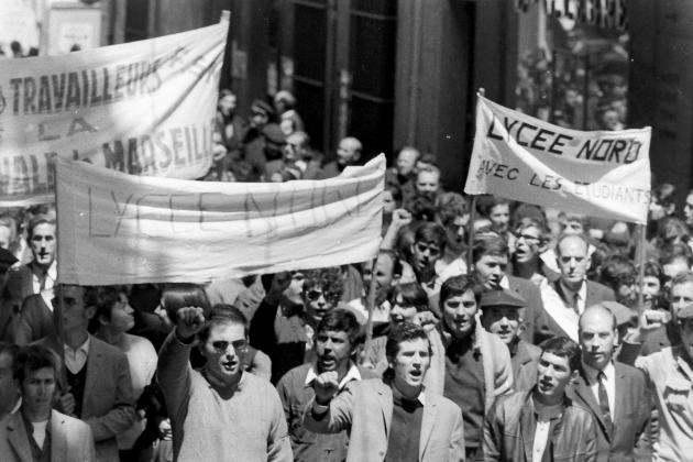 Manifestation, à Marseille, en mai 1968.