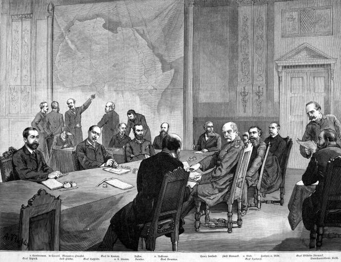 La conférence de Berlin s'est tenue à l'initiative du chancelier allemand Otta von Bismarck, du15 novembre 1884 au 26 février 1885. Image tirée du documentaire d'Arte,« Berlin 1885, la ruée sur l'Afrique».