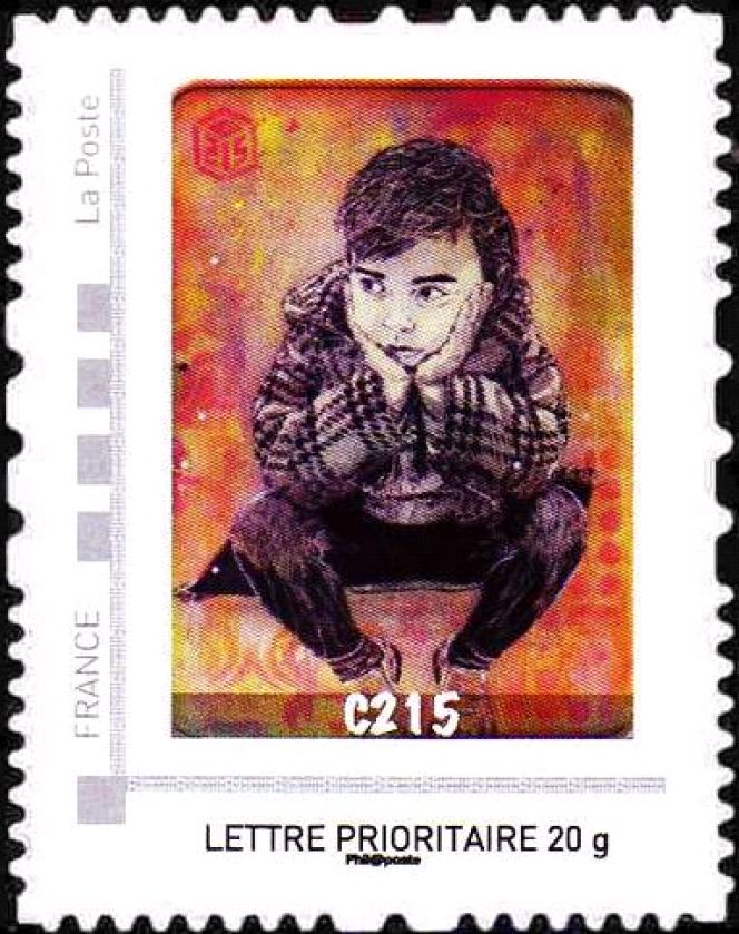 Nina, fille de C215, timbre paru en 2012 au sein du carnet édité par Le Musée de La Poste.
