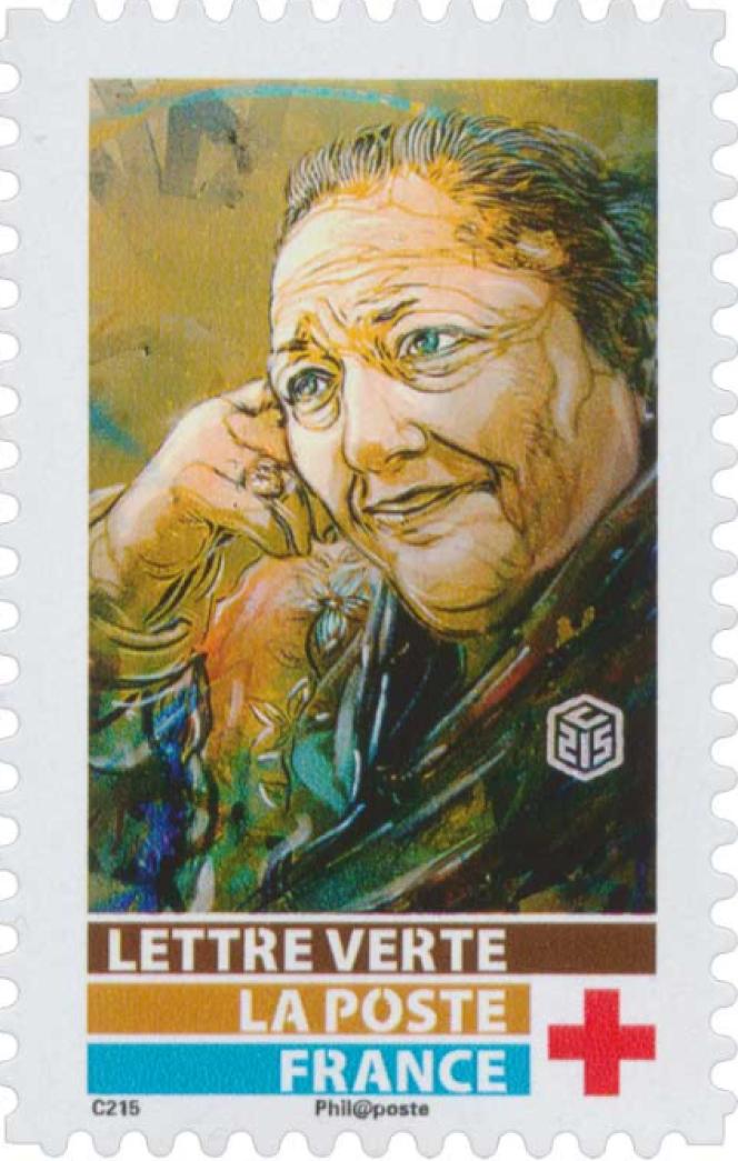 Portrait de la grand-mère de C215, Micheline Bonnefon, décédée en2007, peint à l'origine à Barcelone.