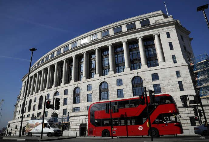 Les bureaux d'Unilever, à Londres, en octobre 2018.