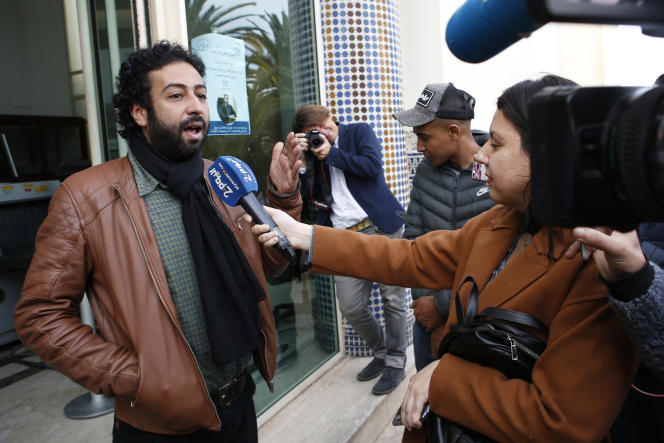 Omar Radi, le 5 mars 2020, à Casablanca au Maroc.