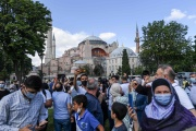 Devant Sainte-Sophie à Istanbul, le 11 juillet.