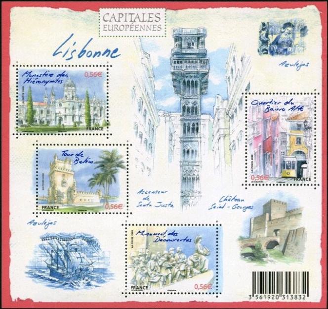 Lisbonne, création de Noëlle Le Guillouzic, mise en page de Valérie Besser (2009).