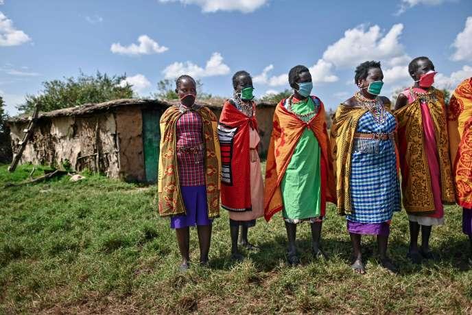 A Talek, au Kenya, le 24 juin 2020. Ce village masai fait partie de la réserve nationale du Masai Mara, désertée par les touristes en raison de la pandémie de nouveau coronavirus.