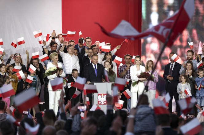 Le président Andrzej Duda, le 12 juillet, àPultusk.