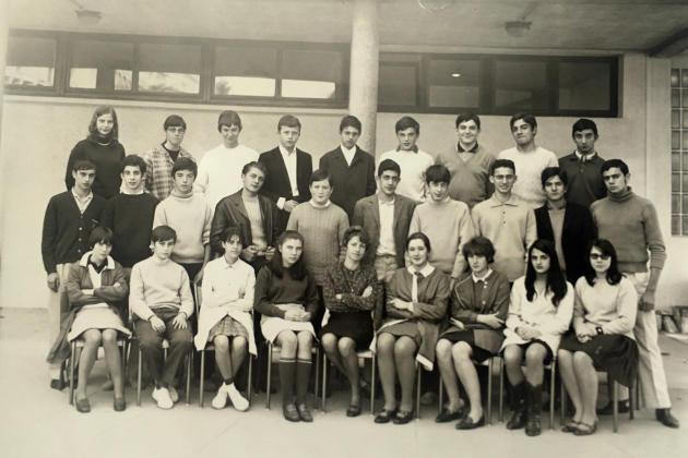 La classe de secondeC, à la rentrée de septembre 1967 (Christian Rossi est au dernier rang, le deuxième à partir de la droite).