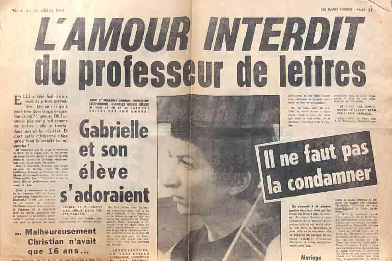 L'amour interdit ; Ici-Paris (8-14 juillet 1969) Crédit: Ici-Paris