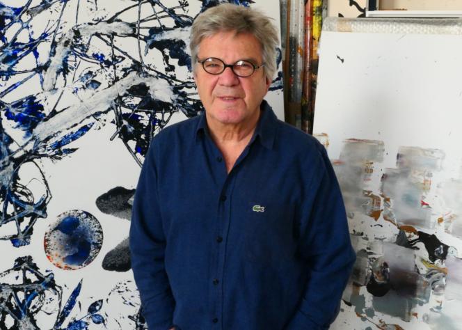 Michel Granger le 3 juillet dans son atelier parisien.