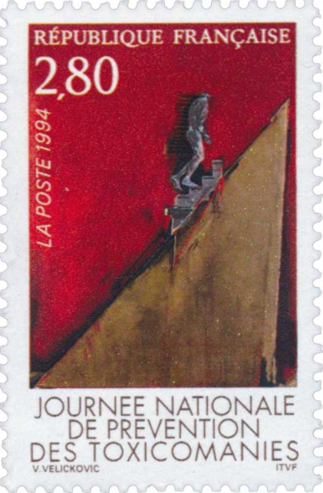 Vladimir Velickovic, timbre-poste de 1994.