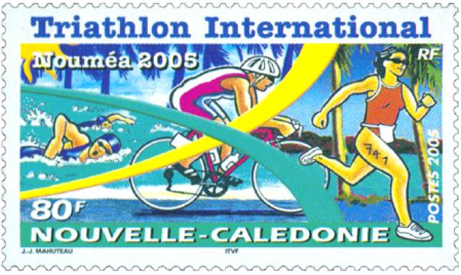 Le premier timbre de Jean-Jacques Mahuteau, pour la Nouvelle-Calédonie, en 2008.