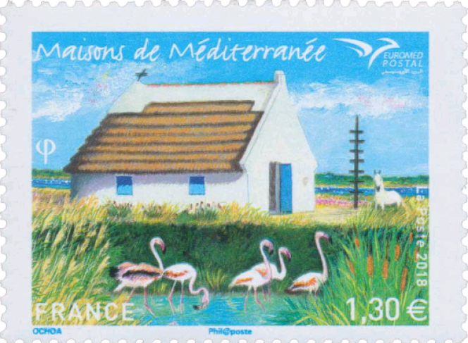 « Maisons de Méditerranée» (2018), mise en page de Mathilde Laurent.