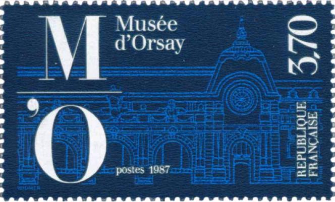 Le« Musée d'Orsay», par Jean Widmer, émis en décembre 1986 (malgré ce qu'indique le millésime sur le timbre).
