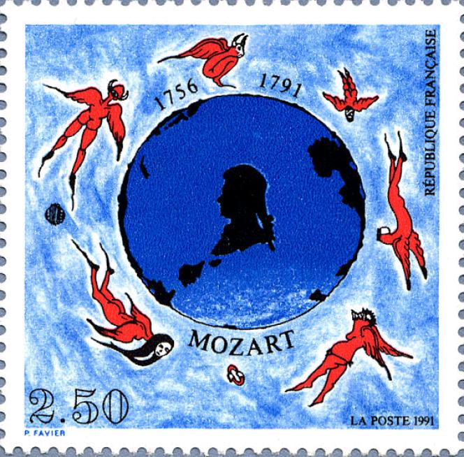 «Mozart», par Philippe Favier (1991).
