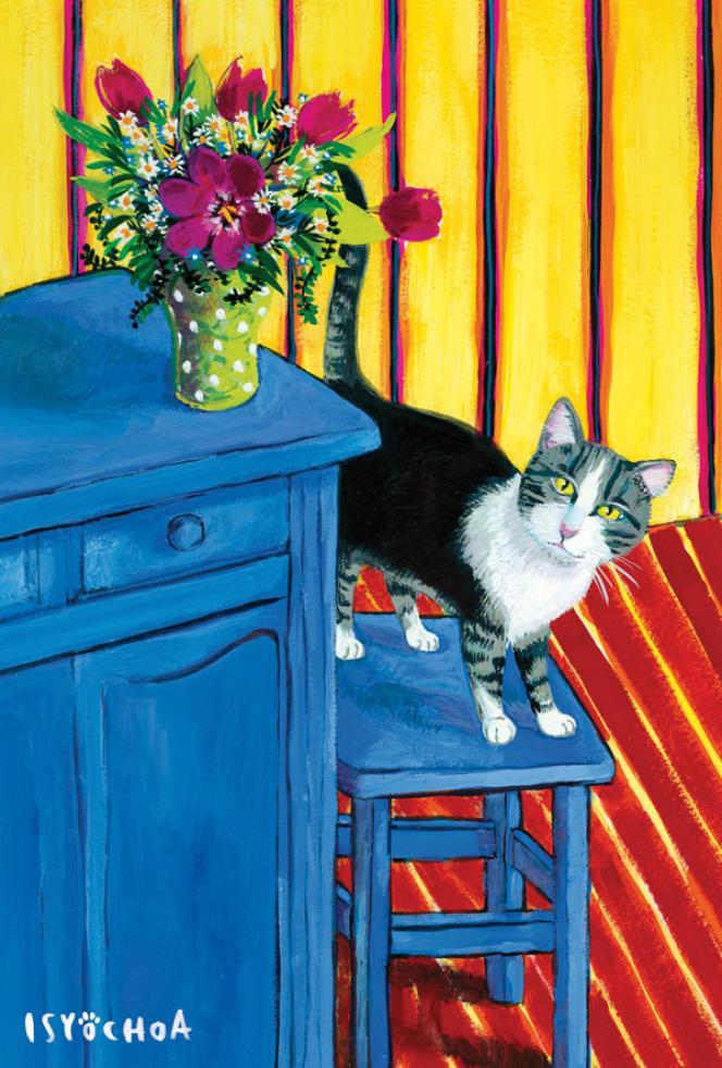 Oeuvre d'Isy Ochoa, éditée sous forme de carte correspondance par www.postallove.com.