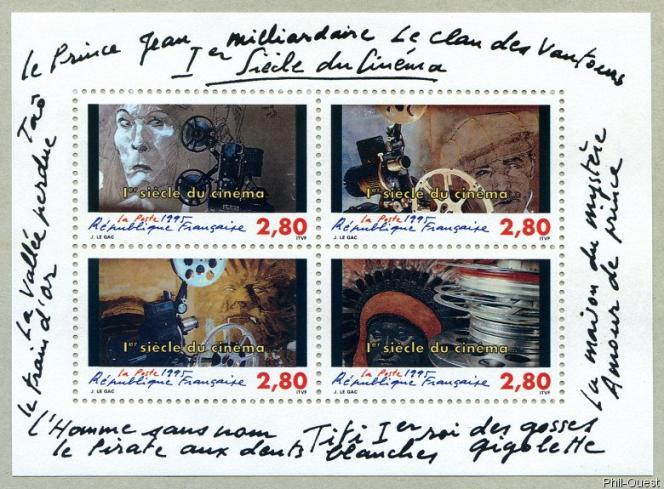 Oeuvre timbrée de Jean Le Gac (1995).