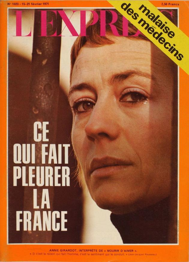 La Une de « L'Express», 15 février 1971.