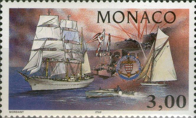 Le premier timbre de Thierry Mordant pour Monaco, en 1997.