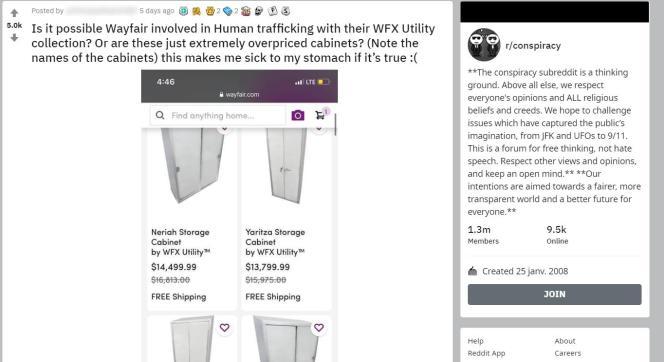 «Serait-il possible que ces armoires hors de prix cachent un réseau de trafic d'humains ?», s'interroge un internaute sur Reddit, tout en soulignant que ces armoires portent des noms de personnes.