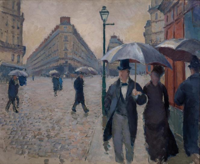 Gustave Caillebotte, «Rue de Paris», temps de pluie, 1877, huile sur toile.Paris, musée Marmottan Monet, legs Michel Monet, 1966.