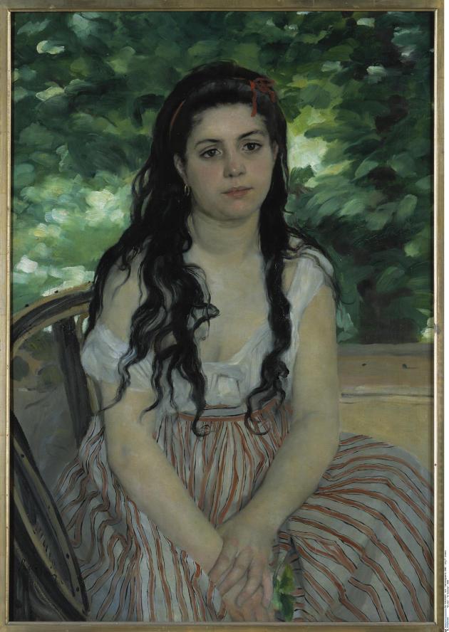 Auguste Renoir, «Lise» ou «La Bohémienne», 1869. National Galerie, Staatliche Museen zu Berlin.