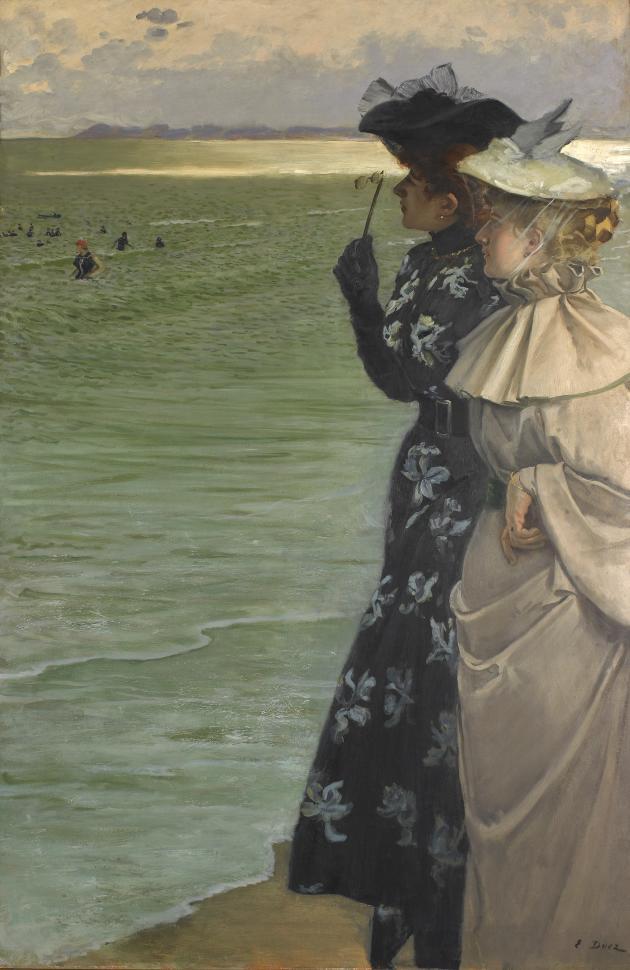 Ernest Ange Duez, «L'heure du bain au bord de la mer», 1896.