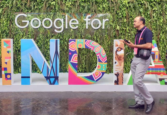 Lors de l'évènement Google for India organisé par le groupe américain, à New Delhi, en septembre 2019.