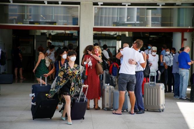 A l'aéroport de Palma de Majorque en Espagne, le 2 juillet.