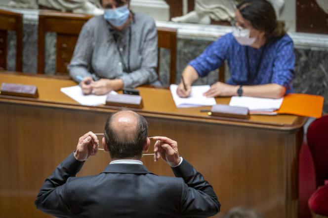 Jean Castex après son discours de politique générale à l'Assemblée nationale à Paris, le 15 juillet.