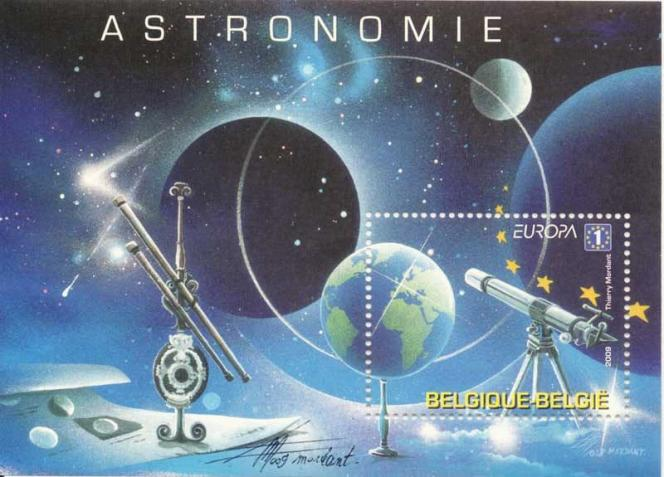 On retrouve des éléments de l'univers onirique et féérique de Thierry Mordant dans ce timbre pour la Belgique (2009).