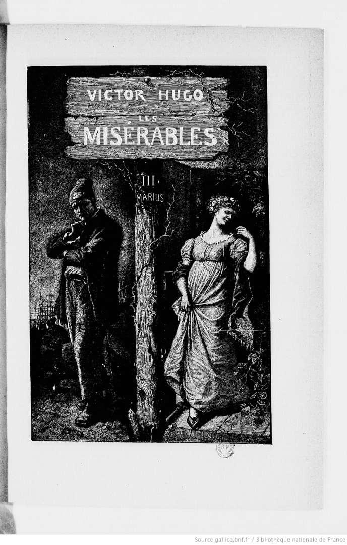 Une page des « Misérables» (vers 1880).