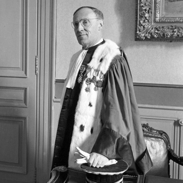 Le procureur Marcel Caleb, en 1965.