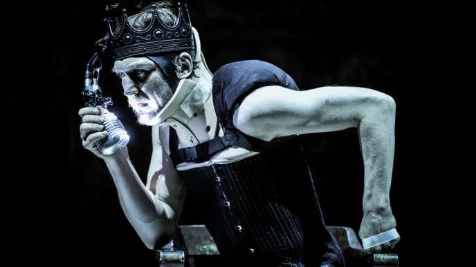Lars Eidinger dans «Richard III»,mis en scène par Thomas Ostermeier à la Schaubüne à Berlin, en février.