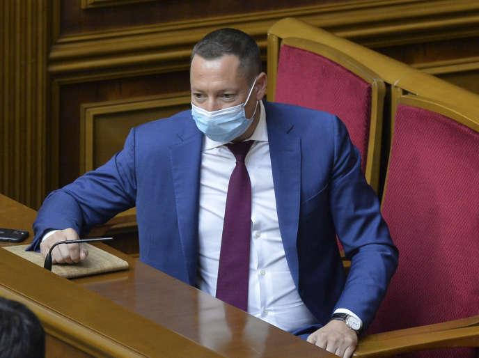 Le nouveau gouverneur de la Banque nationale d'Ukraine (NBU), Kyrylo Shevchenko, à la Rada (le Parlement), le 16 juillet, à Kiev.