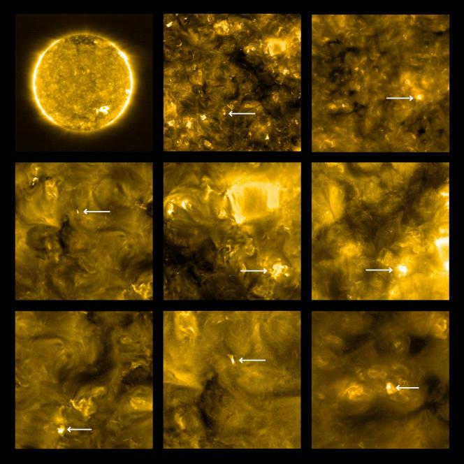 Ces images du Soleil ont été prises à77 millions de kilomètres de l'astre (environ la moitié de la distance Terre-Soleil).
