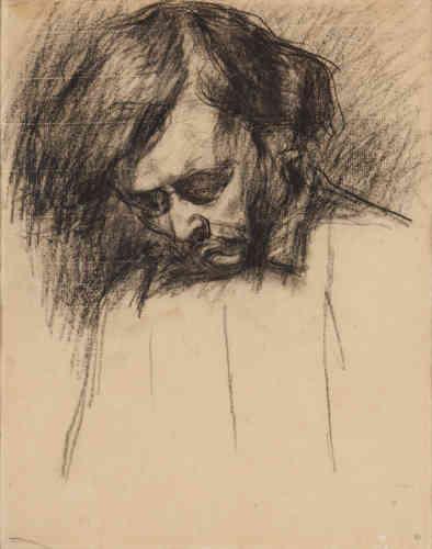 """« Considéré comme le fondateur de la peinture moderne, tout est recherché chez Paul Cézanne : peintures, aquarelles, dessins. Ici,il laisse beaucoup de vide sur sa feuille, ce que l'on nomme chez lui le""""non-finito"""".»"""