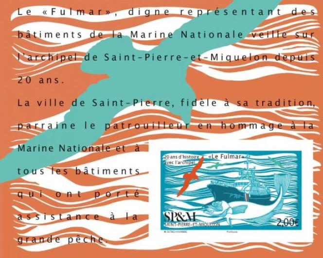 Le« Fulmar», pour Saint-Pierre-et-Miquelon, par Marie Détrée-Hourrière (2019).