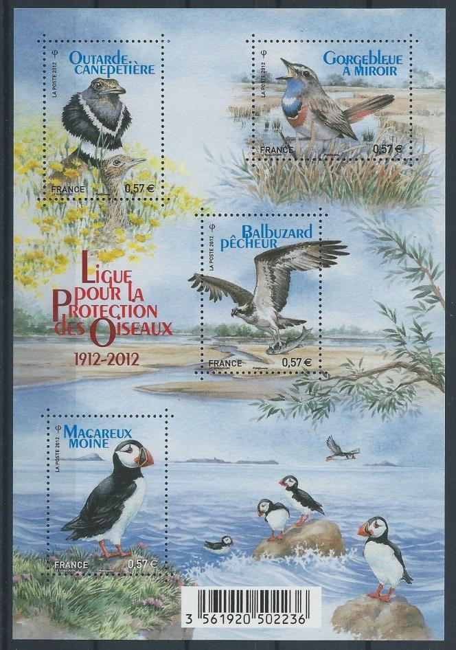 Pour la Ligue pour la protection des oiseaux (LPO), en 2012, par Noëlle Le Guillouzic (mise en page de Valérie Besser).
