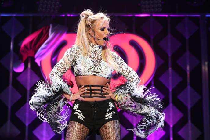 Britney Spears, lors d'un show, à LosAngeles (Californie), le 2 décembre 2016.