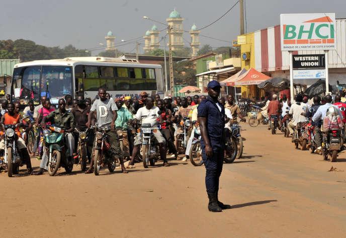 Dans le centre-ville de Korhogo, en novembre 2011.