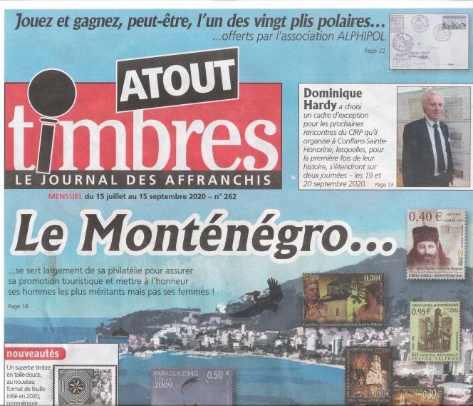« Atout timbres », 32 pages, 2,20 euros (avec son timbre cadeau, ce mois-ci un bloc-feuillet de l'Union des Comores de 2011 sur des coquillages : Cymbiola vespertillo, Murex alabaster et Tibia fusus, Chicoreus brunneus, Pterynotus miyokoae, etc.), en vente en kiosques ou par abonnement auprès de l'éditeur Yvert et Tellier.