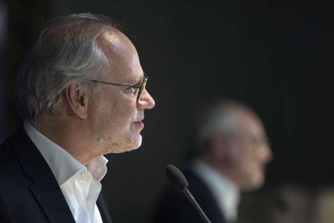 Laurent Joffrin, à Paris, le 14 avril 2016.