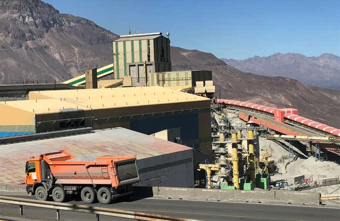 Le gisement d'El Teniente, la plus grande mine souterraine de cuivre du monde, au Chili, en avril 2019.