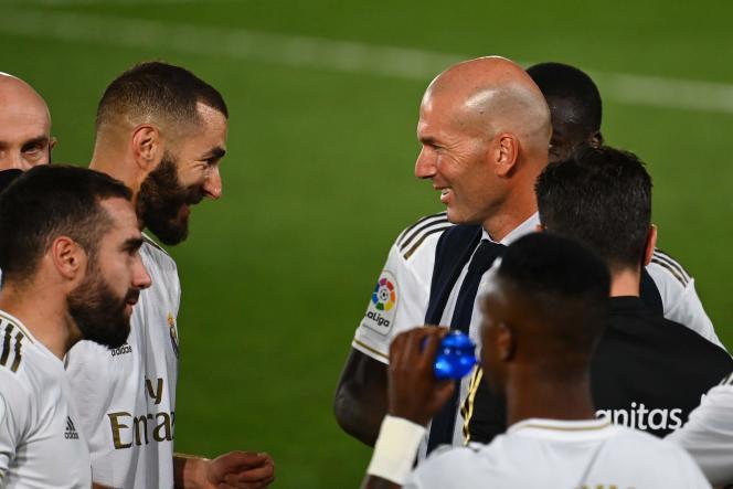 Buteur (21 réalisations en Liga cette saison) et influent dans le jeu, Karim Benzema n'a jamais autant porté son équipe qui, depuis le 14juin, a enchaîné dix victoires de rang.
